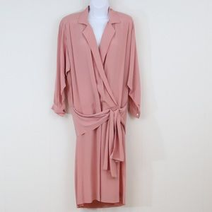 Vintage Liz Claiborne midi dress pink women's 8